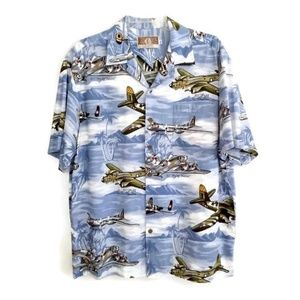 Other - Kalaheo Large Hawaiian Airplanes Shirt Aloha VLV